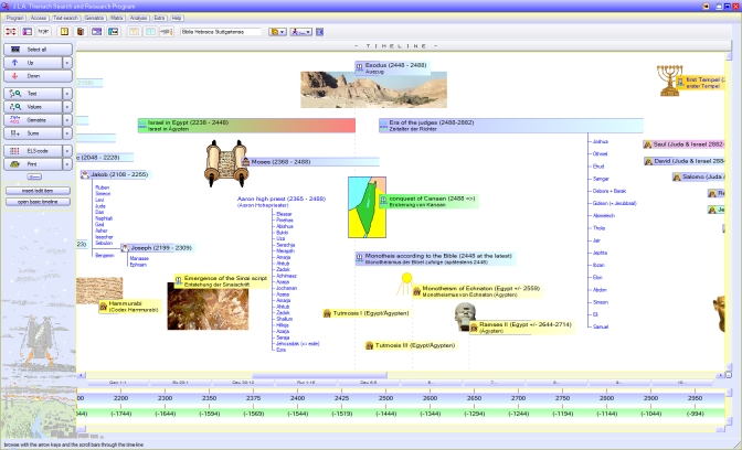Bible Software - biblical timeline, biblical topography